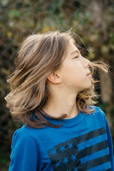 boys long hair makeout boy with long hair stock photo image of cute hair tough
