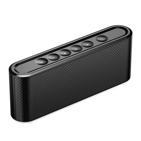 1 iphone 2 bluetooth speakers manovo x6 2200mah screen touch tf wireless bluetooth speaker with mic for iphone 7 8 mobile