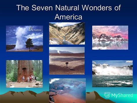 natural wonders in the us презентация на тему quot the seven natural wonders of america