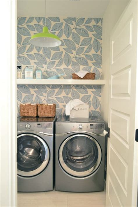 laundry room wallpaper 31 wallpaper accent walls that are worth pinning digsdigs