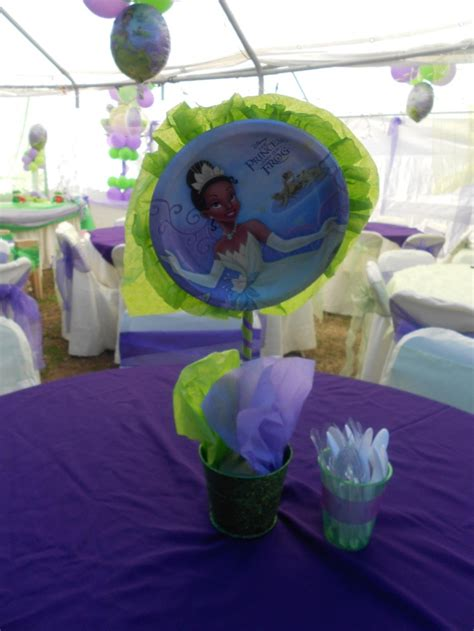 princess and the frog centerpiece created by yola s