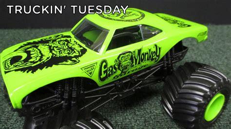 1 24 scale monster jam trucks truckin tuesday gas monkey garage monster jam truck from