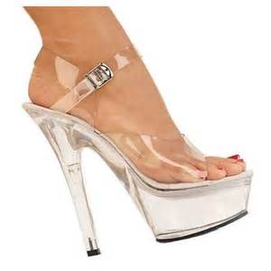 clear high heels shoes picture