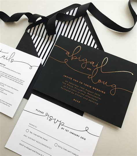foil wedding invitations kate foil wedding invitations by project pretty notonthehighstreet