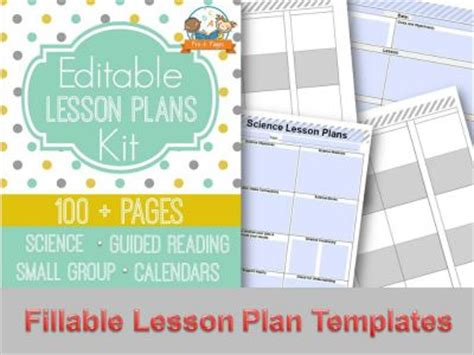 lesson plan template kindergarten lesson plan templates