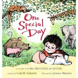 one special day a story for big brothers and by