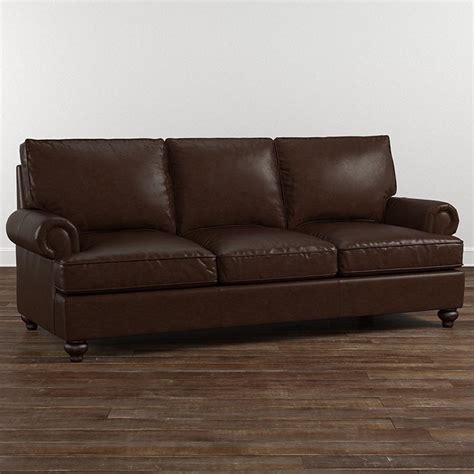 Montague Custom Leather Sofa Bassett Home Furnishings Custom Leather Sofas
