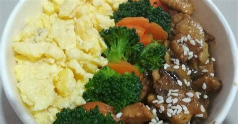 resep ayam rice bowl enak  sederhana cookpad