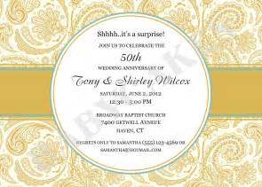 50th wedding anniversary invitations templates free 50th anniversary invitations template best