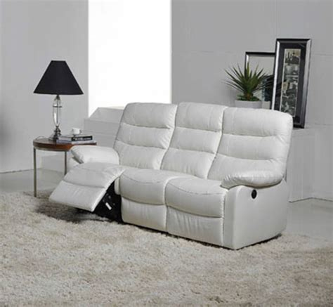 canap駸 relax canap 233 relax electrique 3 places cameo blanc l 193 x h 102