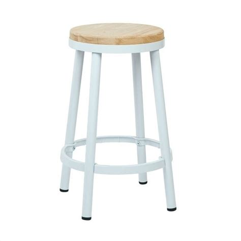 backless bar stools white metal backless bar stool in white brw3226 30 11