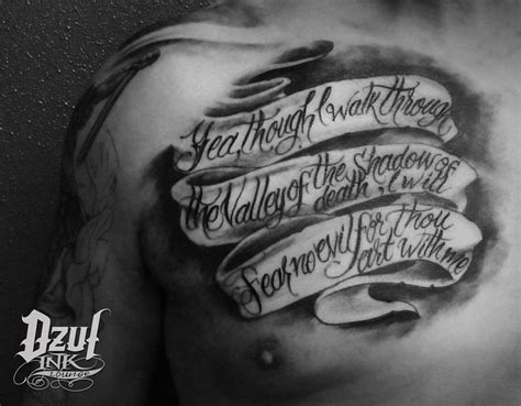yea though i walk through the valley tattoo 412 best infamous ink ideas images on