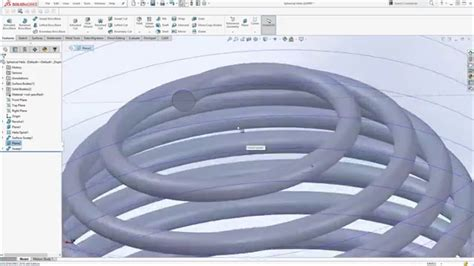 solidworks tutorial helix solidworks tutorial spherical helix sphere spring