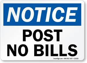 post no bills signs post no bills stencils