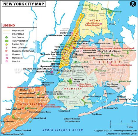 the map of new york city map of newyork city in usa showing roads airports