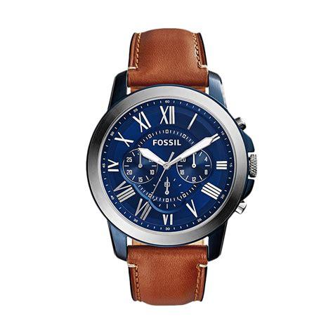 Jam Tangan Fossil Tali Kulit Harga Sepasang 1 jual fossil grant fs5151 jam tangan pria coklat tali kulit harga kualitas