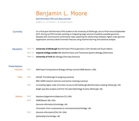 Best Font In Resume by Building An Academic Cv In Markdown 183 Blm Io