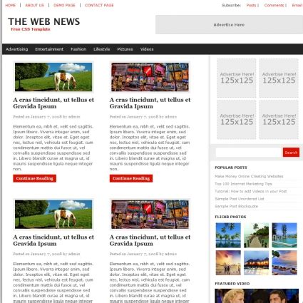 Free Newspaper Website Templates by