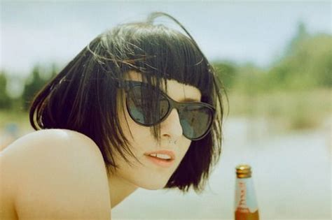bangs on girls with sunglasses cute sunglasses and cut all kinds of pixie pinterest