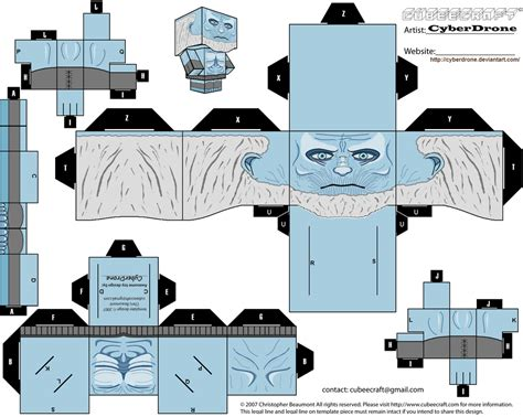 Custom Papercraft - of thrones custom cubeecraft templates by cyberdrone