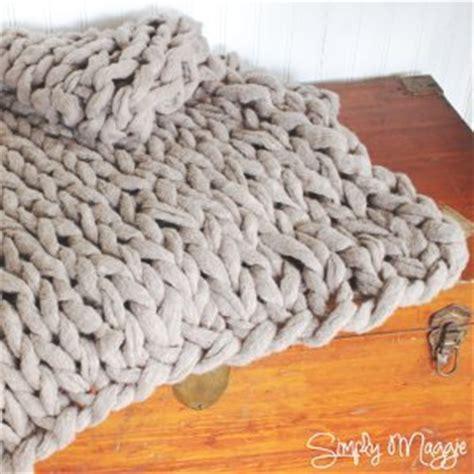 chunky arm knit blanket allfreeknitting