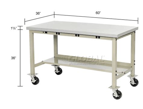 mobile lab bench laboratory work bench mobile 60 quot w x 36 quot d mobile lab