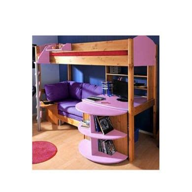 stompa casa highsleeper bed in lilac with