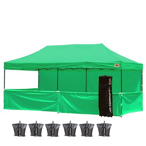 fliese 10 x 20 abccanopy 10x20 deluxe green pop up canopy trade