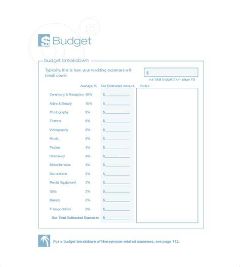 wedding budget format 22 wedding budget templates free sle exle