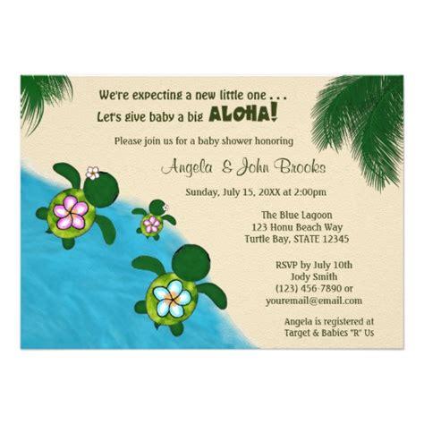Sea Turtle Baby Shower Invitations by Sea Turtle Baby Shower Invite Pink Honu 01b Zazzle