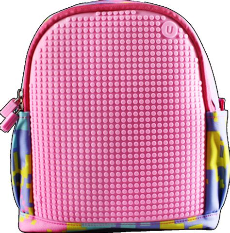 Mikado Tenta Pixel Foldable Shopping Bag Pink upixel pixel upgraded backpack pink wallets brands