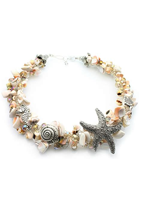 shells for jewelry nurabella sea shell necklace from new hshire by