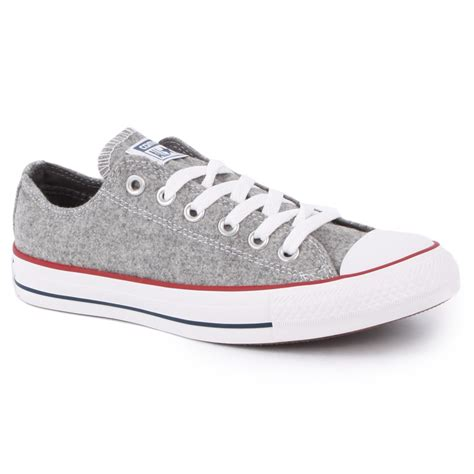 Converse All Ox Grey converse chuck all wool ox womens trainers in grey