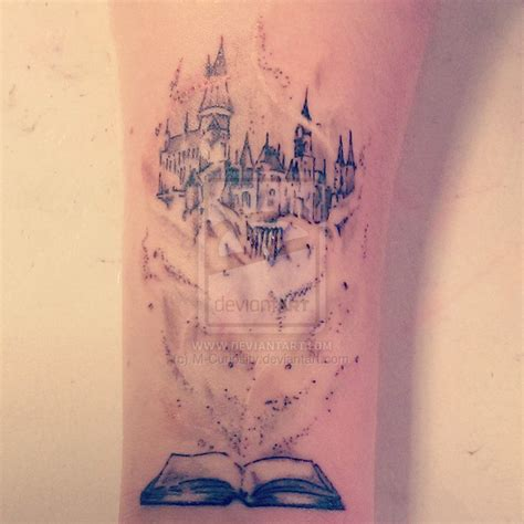 hogwarts castle tattoo hogwarts fairytale by m curiosity deviantart on