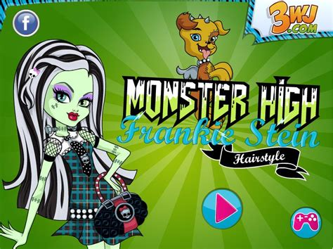 hairstyles monster high games monster high frankie stein hairstyle game