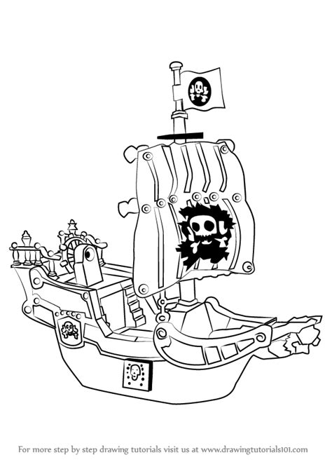 how to draw a pirate ship doodle learn how to draw a pirate ship other step by step