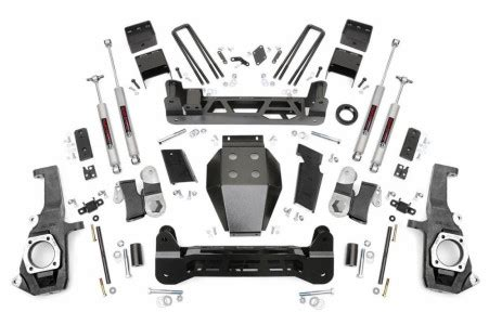 rough country   gm ntd suspension lift kit custom offsets