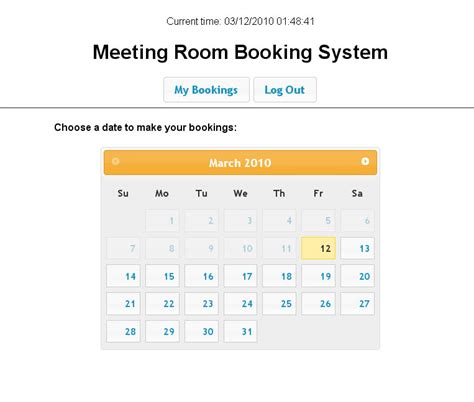 php system template room booking calendar templates calendar template 2016