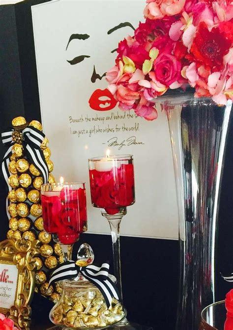 glam marilyn monroe birthday party   party ideas