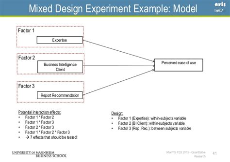 experimental design model selection quantitative research surveys and experiments