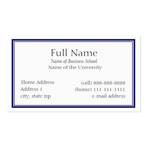 business card templates for graduate students 5 000 student business cards and student business card