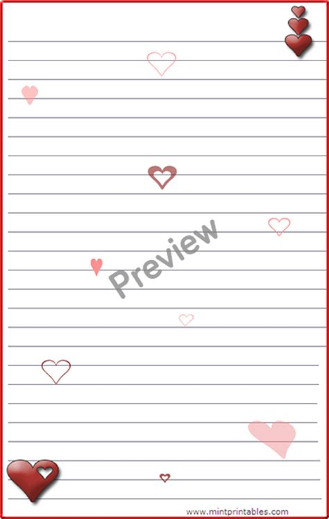 printable romantic stationery search results for free valentines day writing paper