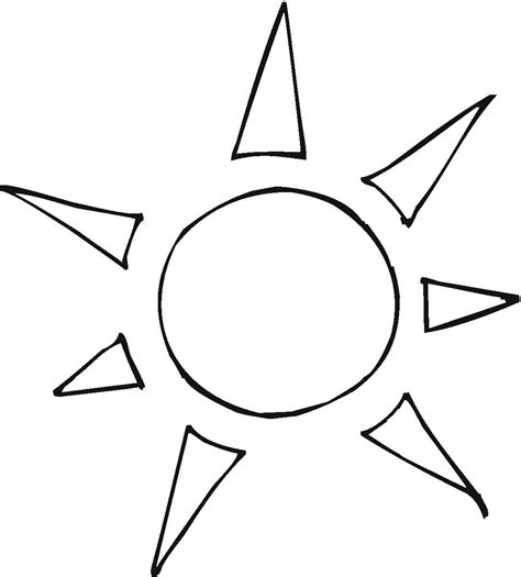 sun rays coloring page hotheat free colouring pages