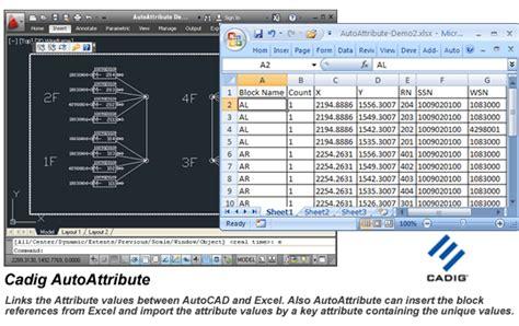 autocad tutorial with exle pdf autocad attributes excel autoattribute free download