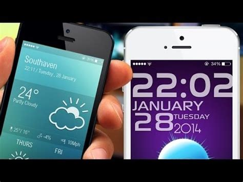 groovylock themes ios 7 best ios 7 lockscreen themes 2014 youtube