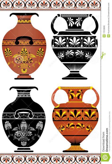 foto vasi greci insieme dei vasi greci immagine stock libera da diritti