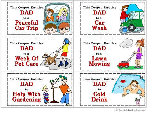 Stocking Stuffer Ideas For Him by Coupon Book For Dad