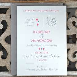 casual wedding invitations casual wedding stick figure