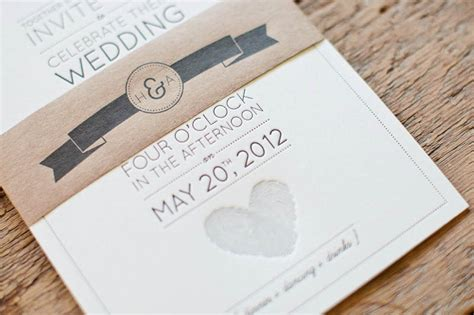 modern wedding invitations aaron s fingerprint wedding invitations