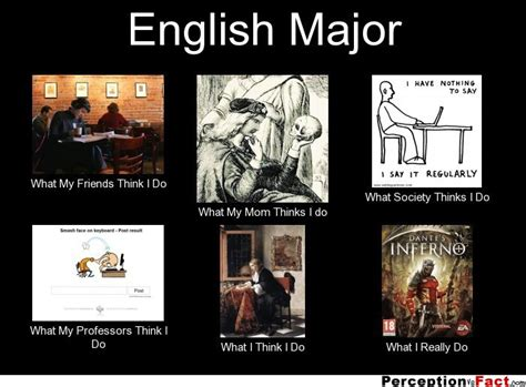 English Major Meme - english major what people think i do what i really
